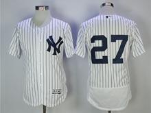 Mens Mlb New York Yankees #27 Giancarlo Stanton White Flex Base Jersey(no Name)