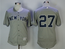 Mens Mlb New York Yankees #27 Giancarlo Stanton Gray Flex Base Jersey