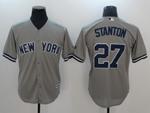 Mens Mlb New York Yankees #27 Giancarlo Stanton Gray Cool Base Jersey