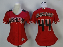 Women Mlb Arizona Diamondbacks #44 Paul Goldschmidt New Red Jersey