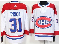 Mens Montreal Canadiens #31 Carey Price White Away Adidas Jersey