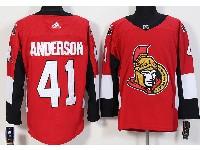 Mens Ottawa Senators #41 Craig Anderson Red Home Adidas Jersey