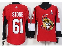 Mens Ottawa Senators #61 Mark Stone (a) Red Home Adidas Jersey