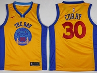 Mens Nba Golden State Warriors #30 Stephen Curry Yellow Nike Swingman Jersey
