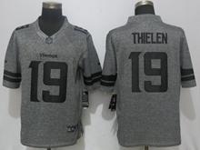Mens Nfl Nike Minnesota Vikings #19 Adam Thielen Gray Stitched Gridiron Limited Jersey