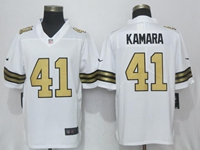 Mens New Orleans Saints #41 Alvin Kamara White Color Rush Limited Nike Jersey