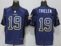 Mens Nfl Minnesota Vikings #19 Adam Thielen Purple Drift Fashion Elite Jersey