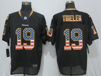Mens Nfl Minnesota Vikings #19 Adam Thielen Black Usa Flag Fashion Elite Jersey