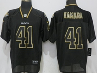 Mens Nfl New Orleans Saints #41 Alvin Kamara Lights Out Black Elite Jersey