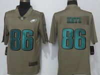 Mens Nfl Philadelphia Eagles #86 Zach Ertz Green Olive Salute To Service Limited Nike Jersey