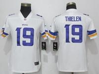 Women Nfl Minnesota Vikings #19 Adam Thielen White Vapor Untouchable Limited Player Jersey