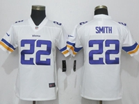 Women Nfl Minnesota Vikings #22 Harrison Smith White Vapor Untouchable Limited Player Jersey