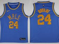 Mens Nba Los Angeles Lakers #24 Kobe Bryant Light Blue Mpls Jersey
