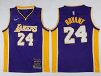 Mens Nba Los Angeles Lakers #24 Kobe Bryant Purple Retirement Commemorative Nike Jersey