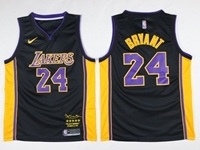 Mens Nba Los Angeles Lakers #24 Kobe Bryant Black Retirement Commemorative Nike Jersey