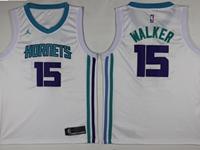 Mens 2017-18 Season Nba Charlotte Hornets #15 Kemba Walker White Jordan Jersey
