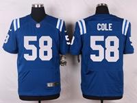 Mens Nfl Indianapolis Colts #58 Trent Cole Blue Elite Nike Jersey