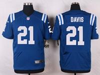Mens Nfl Indianapolis Colts #21 Vontae Davis Blue Elite Nike Jersey