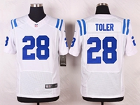 Mens Nfl Indianapolis Colts #28 Toler White Elite Nike Jersey