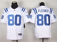 Mens Nfl Indianapolis Colts #80 Coby Fleener White Elite Nike Jersey