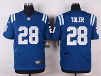 Mens Nfl Indianapolis Colts #28 Toler Blue Elite Nike Jersey