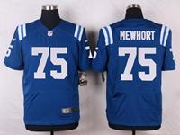 Mens Nfl Indianapolis Colts #75 Jack Mewhort Blue Elite Nike Jersey