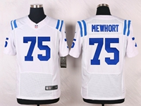 Mens Nfl Indianapolis Colts #75 Jack Mewhort White Elite Nike Jersey