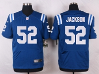 Mens Nfl Indianapolis Colts #52 D'qwell Jackson Blue Elite Nike Jersey