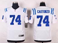 Mens Nfl Indianapolis Colts #74 Anthony Castonzo White Elite Nike Jersey