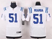 Mens Nfl Indianapolis Colts #51 Muamba White Elite Nike Jersey