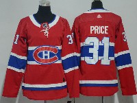 Women Montreal Canadiens #31 Carey Price Red Home Premier Adidas Jersey
