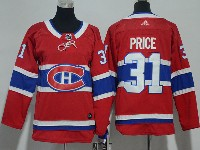 Women Youth Montreal Canadiens #31 Carey Price Red Home Premier Adidas Jersey
