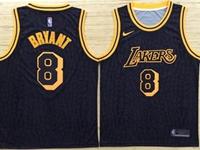 Mens Nba Los Angeles Lakers #8 Bryant Black Nike City Retirement Commemorative Jersey