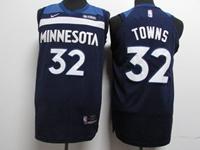 Mens Youth 2017-18 Season Nba Minnesota Timberwolves #32 Karl-anthony Towns Blue Nike Jersey