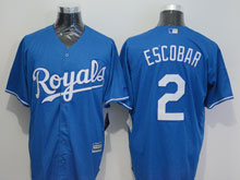 Mens Mlb Kansas City Royals #2 Alcides Escobar (royals) Blue Jersey