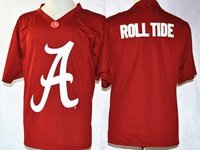 Mens Ncaa Nfl Alabama Crimson Roll Tide Red Blank Fashion Jersey