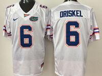 Mens Ncaa Nfl Florida Gators #6 Jeff Driskel White Jersey