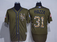 Mens Mlb New York Mets #31 Mike Piazza Green Fashion 2016 Memorial Day Jersey