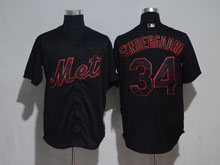 Mens Mlb New York Mets #33 Matt Harvey Black Cool Base Jersey