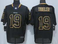 New Mens Nfl Minnesota Vikings #19 Adam Thielen Lights Out Black Elite Jersey