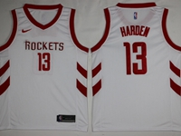 Mens 2019-20 Season Nba Houston Rockets #13 James Harden White Swingman Nike Jersey
