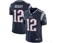Mens New England Patriots #12 Tom Brady Blue Vapor Untouchable Limited Jersey