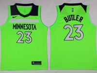 New Mens Nba Minnesota Timberwolves #23 Jimmy Butler Green Swingman Nike Jersey