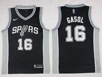 New Mens Nba San Antonio Spurs #16 Pau Gasol Black Nike Jersey