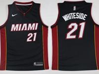New Mens Nba Miami Heat #21 Hassan Whiteside Black Nike Jersey