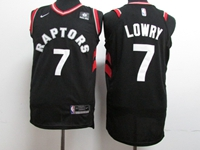 New Mens Nba Toronto Raptors #7 Kyle Lowry Black Nike Jersey