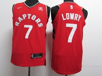 New Mens Nba Toronto Raptors #7 Kyle Lowry Red Nike Swingman Jersey