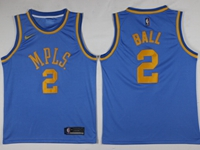 Mens Nba Los Angeles Lakers #2 Lonzo Ball Light Blue Mpls Jersey