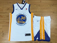 New Mens Nba Golden State Warriors #30 Stephen Curry White Nike Suit Jersey
