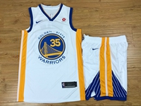 Mens Nba Golden State Warriors #35 Kevin Durant White Nike Suit Jersey